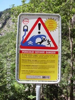 Gefahr im Hochgebirge